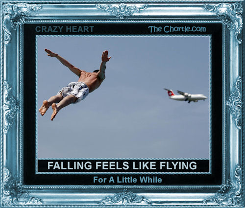 Falling feels like flying for a little while (Crazy Heart)