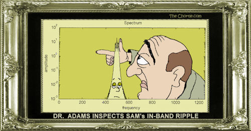 Dr. Adams inspects Sam's in-band ripple