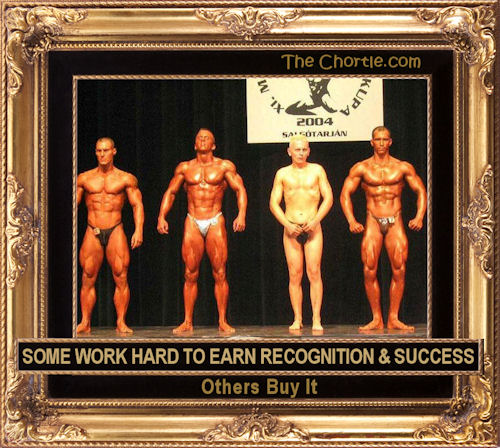 Some work hard to earn recognition & success. Others buy it.
