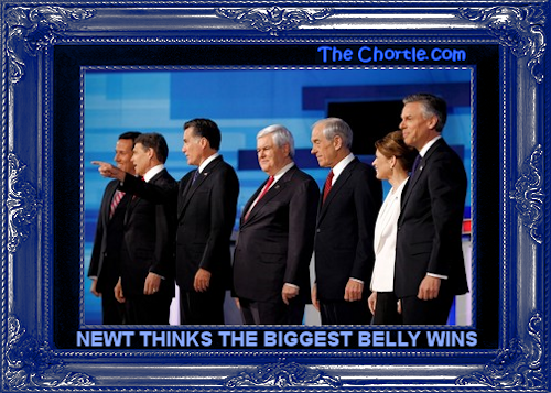 Newt thinks the biggest belly wins