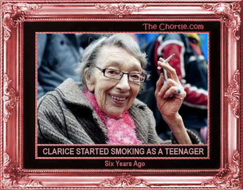 Clarice started smoking as a teenager six years ago
