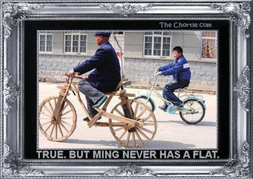 True. But Ming never has a flat.