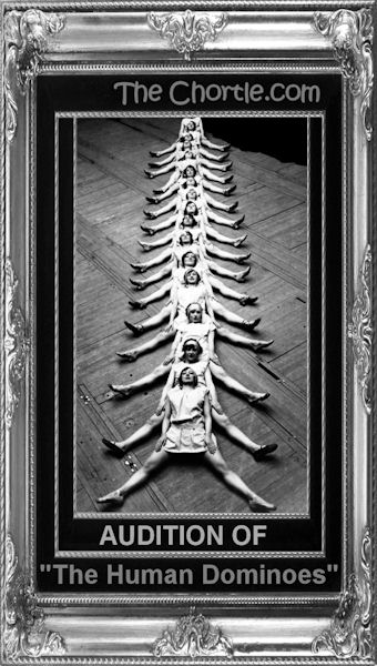 "Audition of ""The Human Dominoes"""