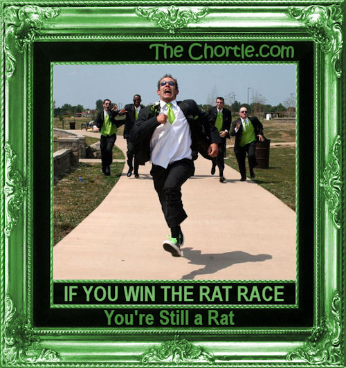 If you win the rat race, you're still a rat