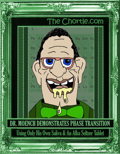 Dr. Moench demonstrates phase transition using only his own saliva & an Alka Seltzer tablet
