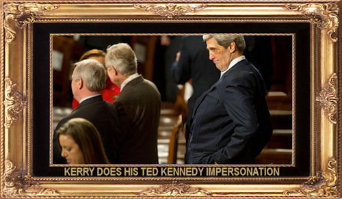 Kerry does his Ted Kennedy impersonation