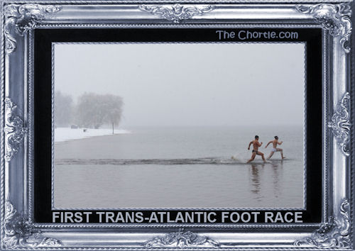 First trans-Atlantic foot race