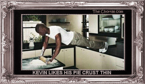Kevin likes his pie crust thin