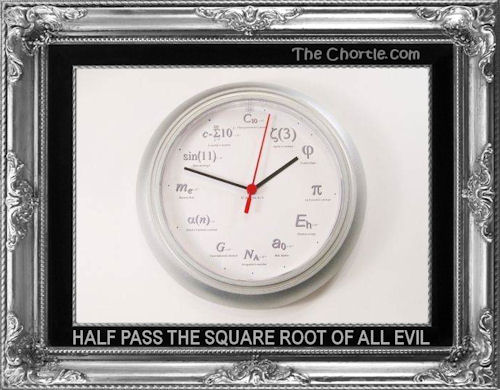 Half pass the square root of all evil