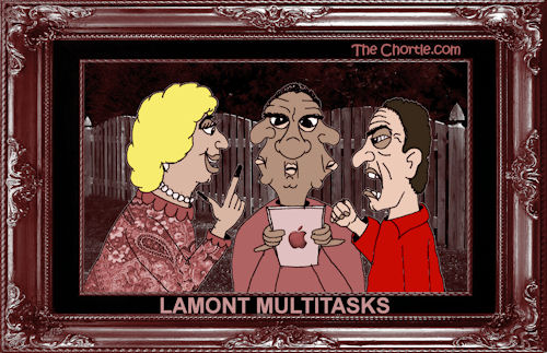 Lamont multitasks