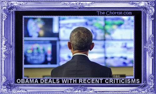 Obama deals with recent criticisms