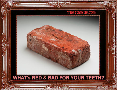 What's red & bad for your teeth?
