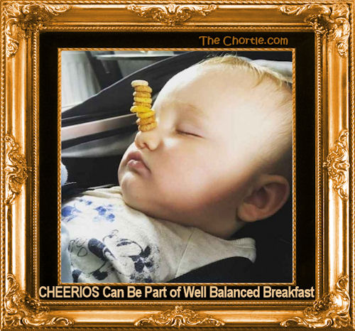 Cheerios can be part of a well-balanced breakfast