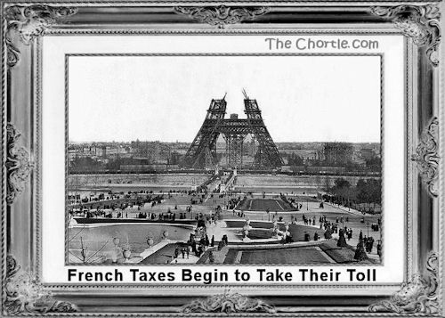 French taxes begin to take their tool.