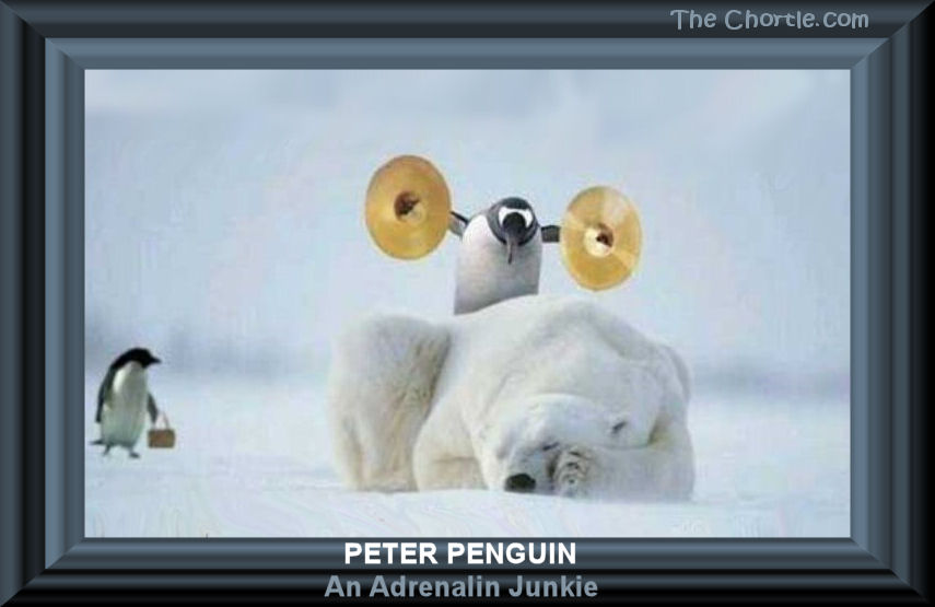 Peter Penguin. An adrenalin junkie.