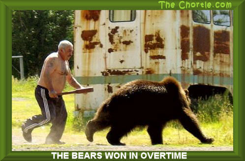 The bears won in overtime.
