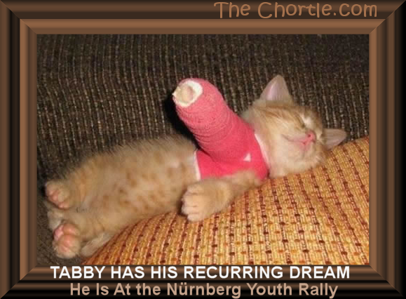 Tabby has his recurring dream he is at the Nürnberg youth rally.