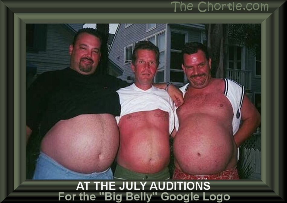 "At the July auditions for the ""Bog Belly"" Google logo."