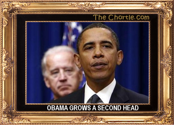 Obama grows a second head