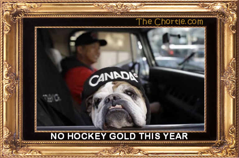 No hockey gold this year.