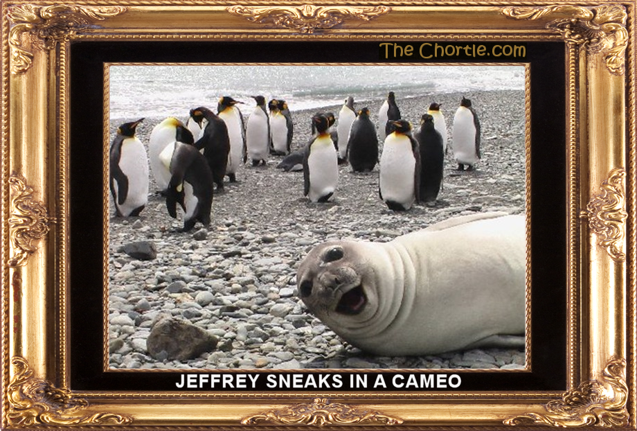Jeffrey sneaks in a cameo.