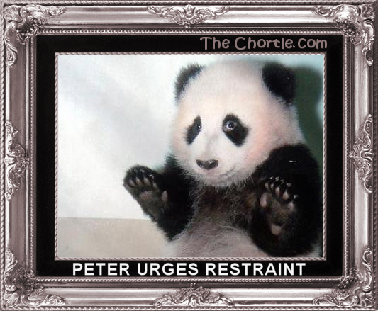 Peter urges restraint