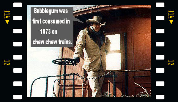 Bubblegum was first consumed in 1873 on chew chew trains.