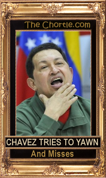 Chavez tries to yawn and misses